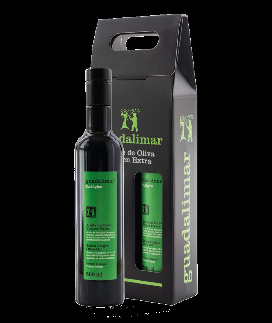Estuche de 2 botellas de 500 ml Willy DOP AOVE Temprano Ecológico | Aceites Guadalimar
