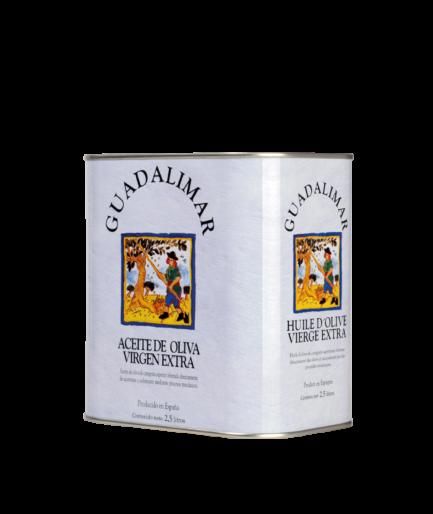 Caja de 6 latas de 2'5L AOVE Premium Gran Selección | Aceites Guadalimar
