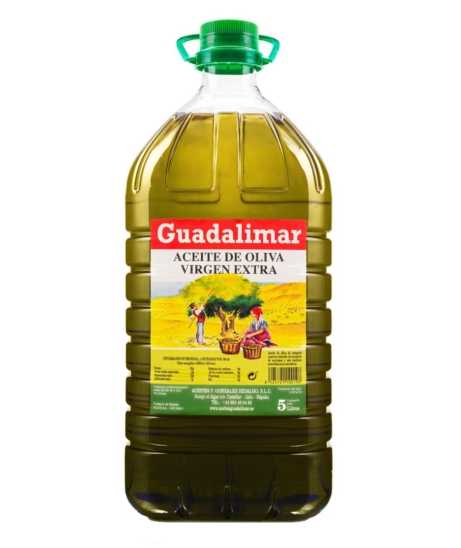 Caja de 3 garrafas de 5L de aceite de oliva virgen extra | Aceites Guadalimar