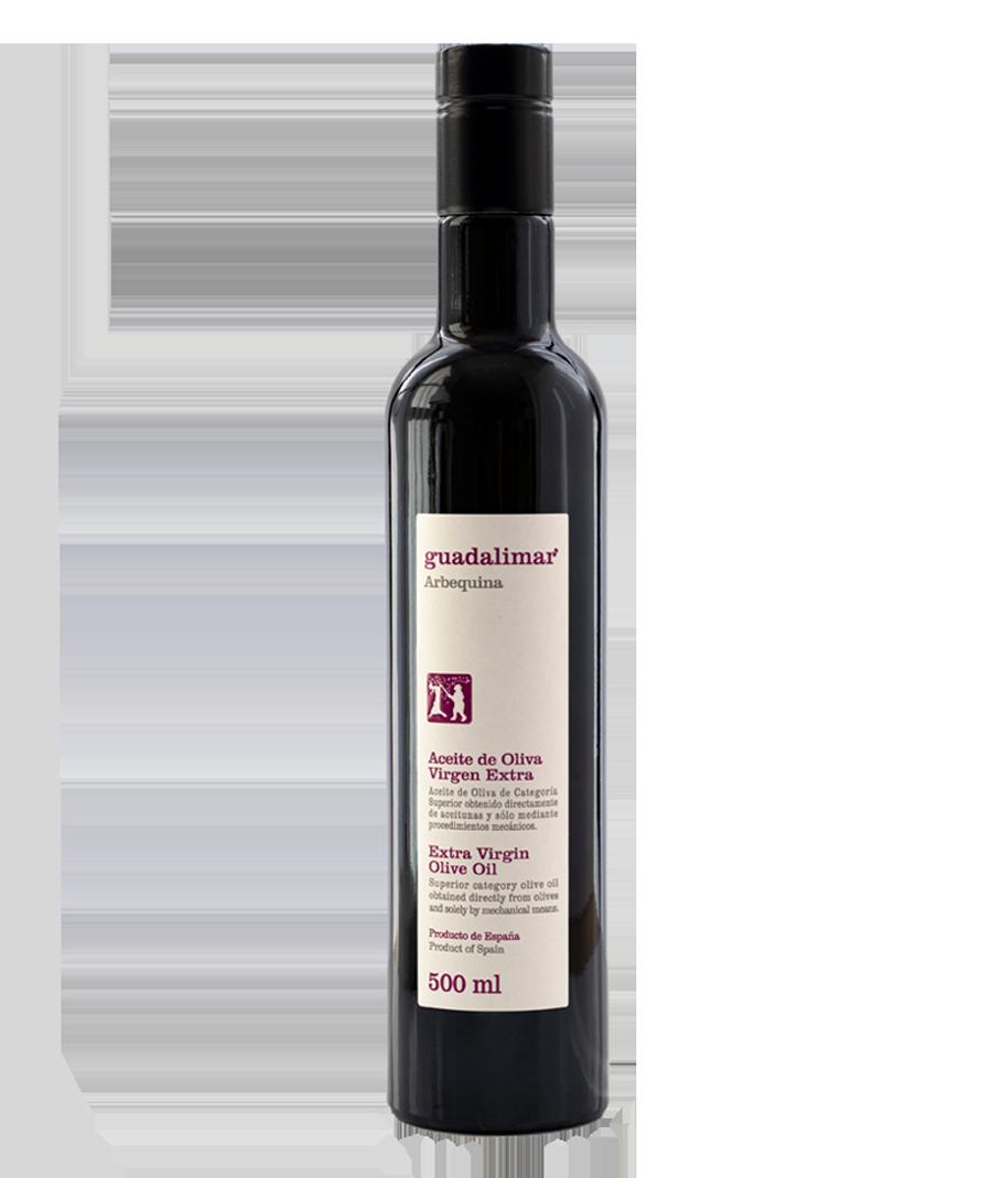 Caja de 6 botellas de 500 ml Willy DOP AOVE Temprano Arbequina | Aceites Guadalimar