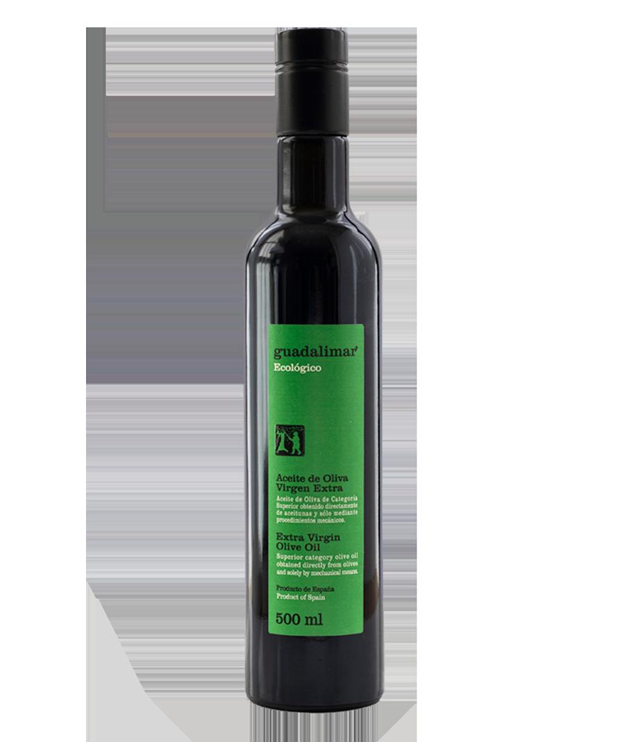 Caja de 6 botellas de 500 ml Willy DOP AOVE Temprano Ecológico | Aceites Guadalimar